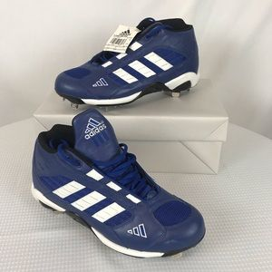 Adidas Blue and White Baseball Cleats NWT